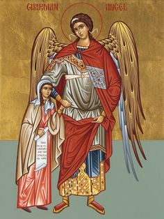 Guardian angel for a girl