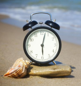 clock on beach-cropped