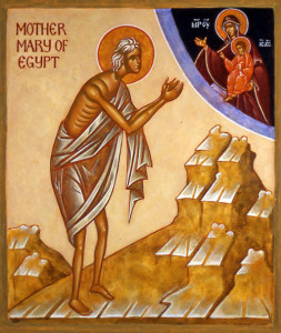 st-mary-of-egypt praying to heaven