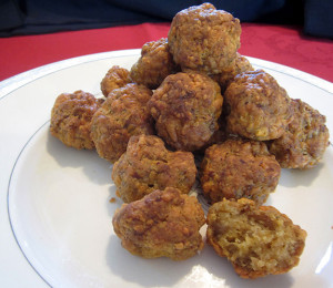 Cheese and Sausage Balls make a tasty way to celebrate the season. (Photo: Charlotte Riggle)